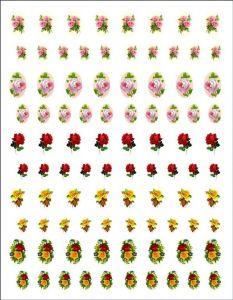 Samolepky dekupážní vintage květiny 5
