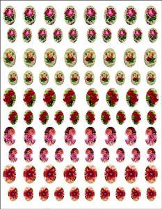 Samolepky dekupážní vintage květiny 9