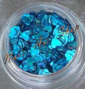 Srdíčka modrá hologram