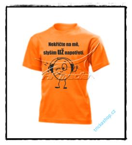 TRIČKO DĚTSKÉ S POTISKEM 02 oranžové