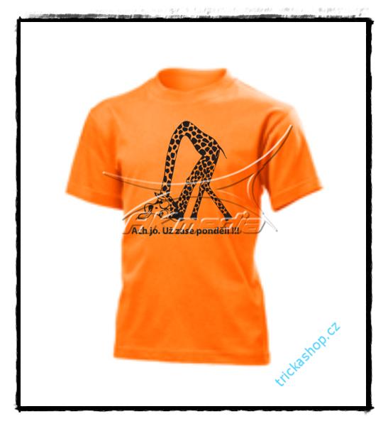 TRIČKO DĚTSKÉ S POTISKEM 06 oranžové AKmedia