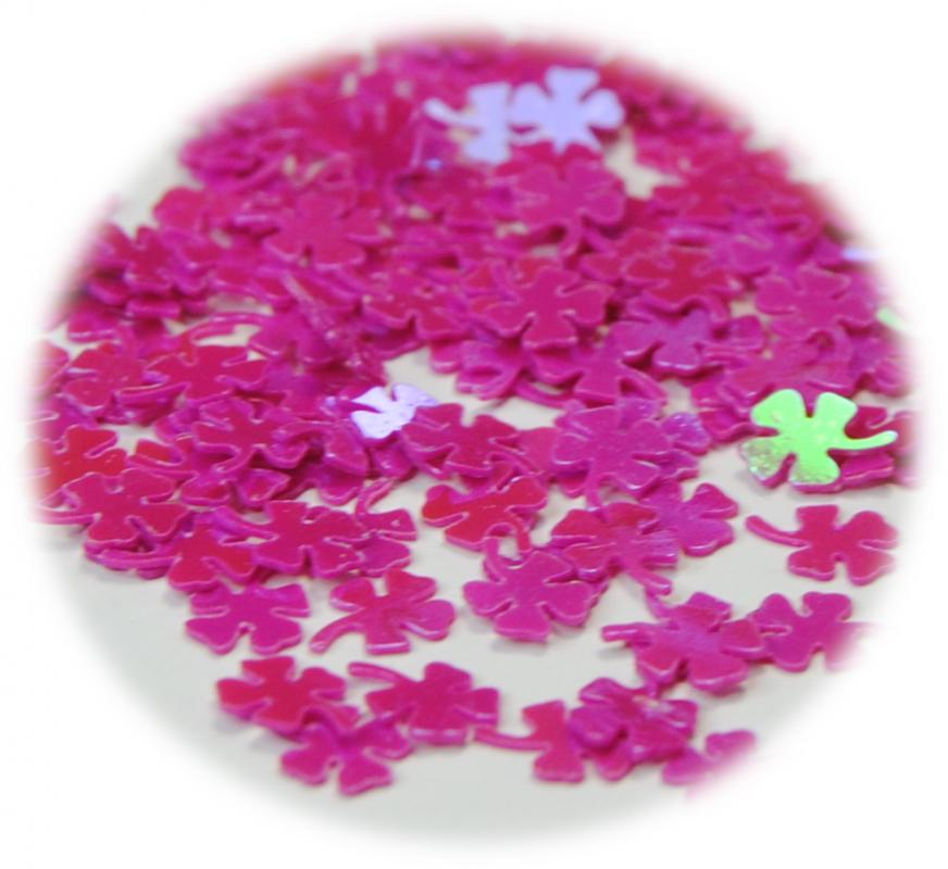 Čtyřlístek pro zdobení nehtů růžová tmavá lesk