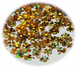 Čtyřlístek zlatá hologram