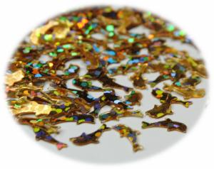 Delfínci zlatá hologram