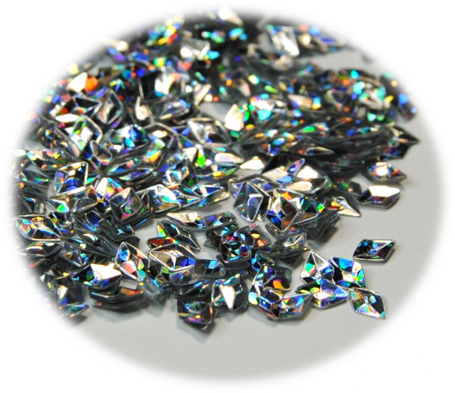 Diamant 3D pro zdobení nehtů stříbrná hologram