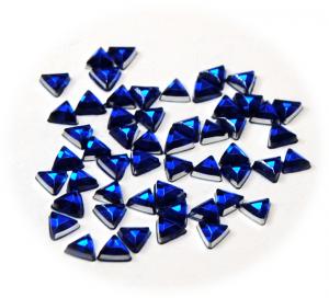 Kamínky trojúhelník modrá