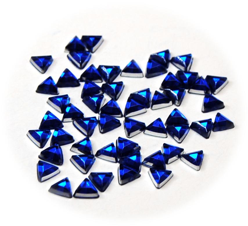Kamínky trojúhelník ke zdobení nehtů modrá