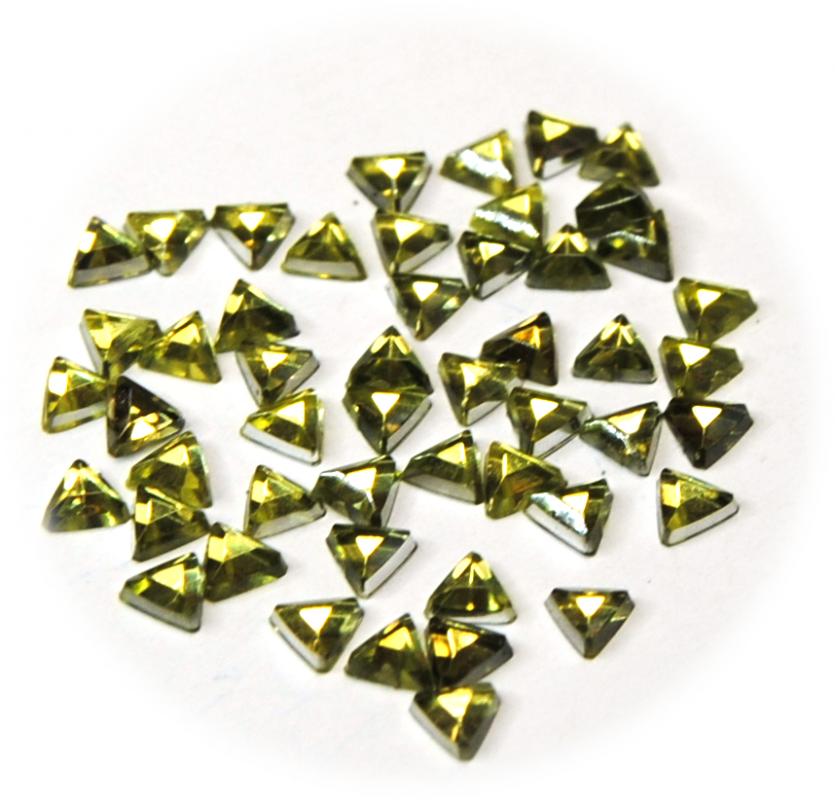 Kamínky trojúhelník ke zdobení nehtů zelená světlá