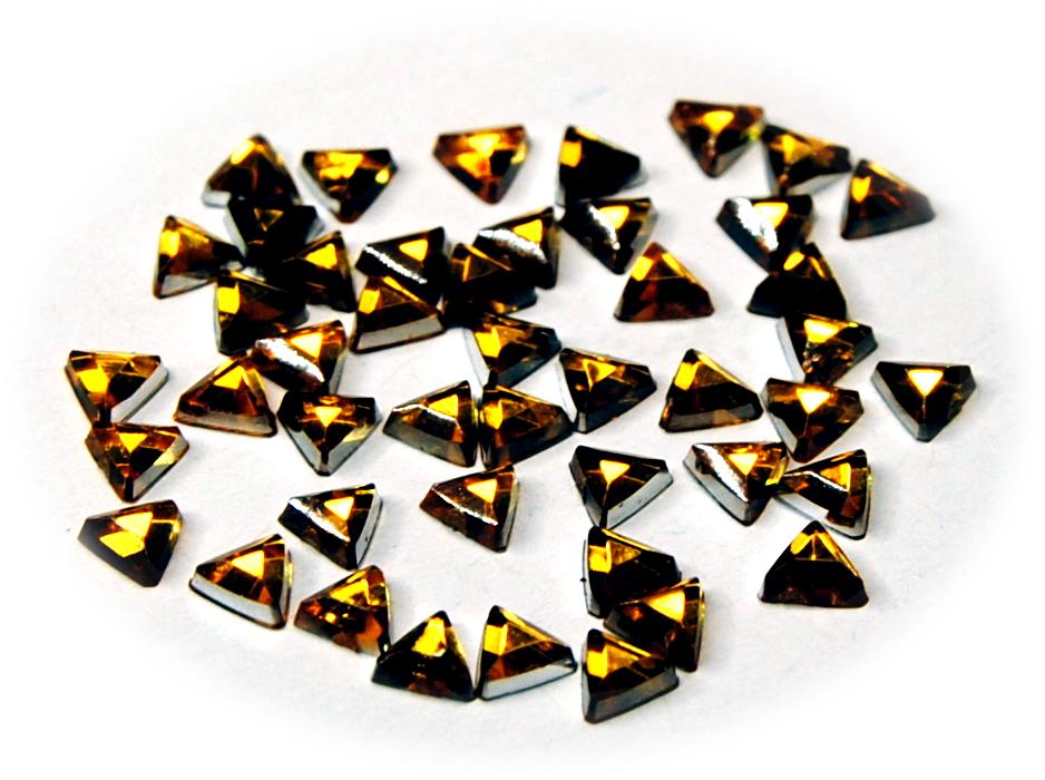 Kamínky trojúhelník ke zdobení nehtů zlatá