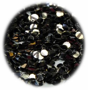 Kolečka mini stříbrná s černým s proužkem