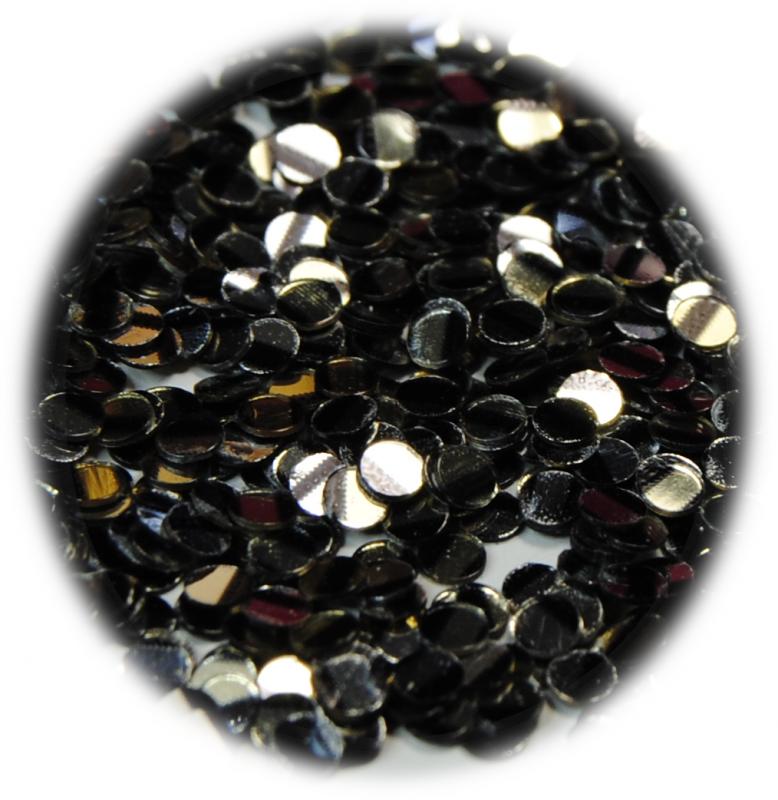 Kolečka mini ke zdobení nehtů stříbrná s černým s proužkem