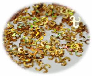 Křížky kroucené zlatá hologram