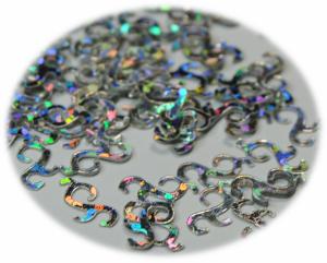 Kroucené tvary stříbrná hologram