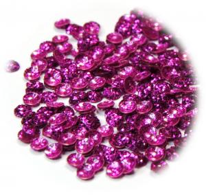 Polobublinky fialová brokát