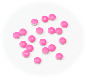 Vločky neonové růžové malé