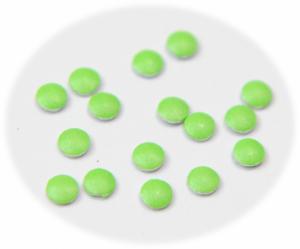 Vločky neonové zelené malé